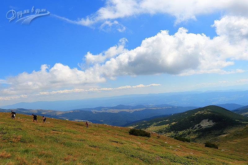По първото ребро - нагоре към връх Белмекен