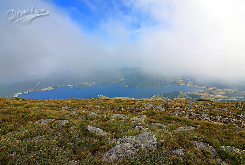 Поглед към язовир Белмекен от върха