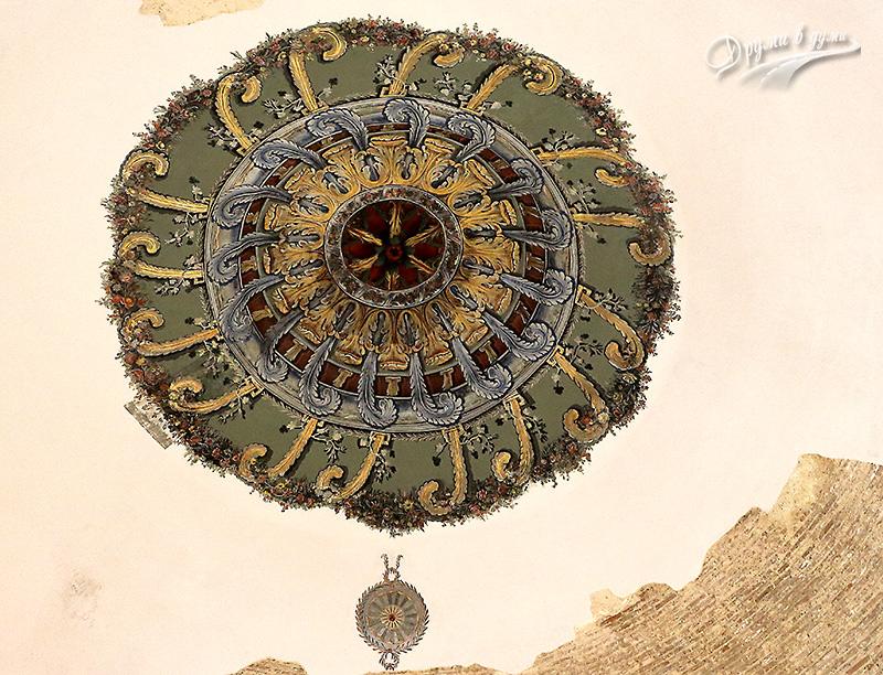 Музей на религиите: розетка на тавана