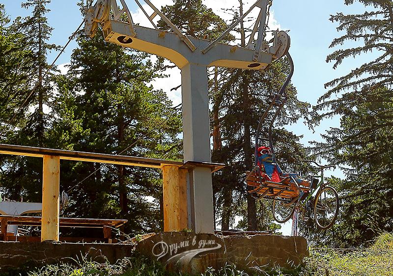 Ситняковски лифт - старата горна станция и Жорко
