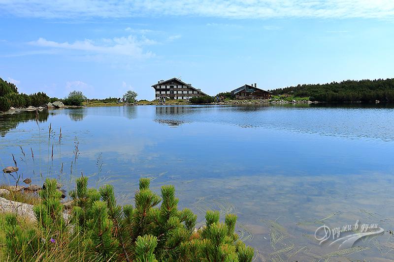 Хижа Безбог и Безбожкото езеро, поглед от подножието на Душевадката