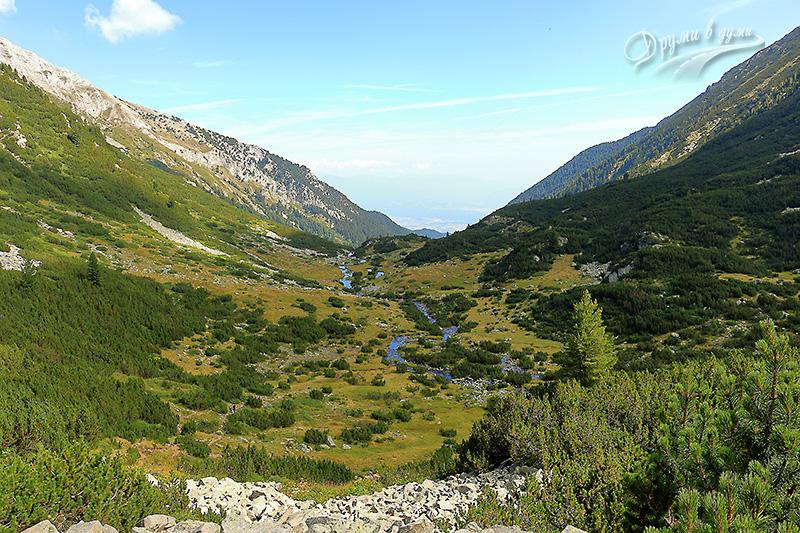 Река Бъндерица: поглед назад от стръмния участък