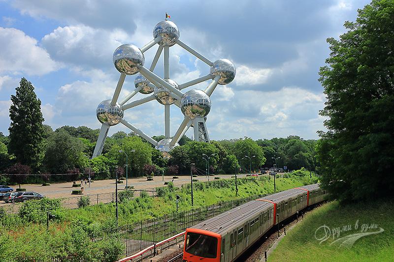 Атомиума и трамвая