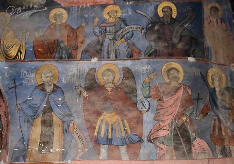 Църквата Св. Никола Летни в с. Чуковец - стенописи