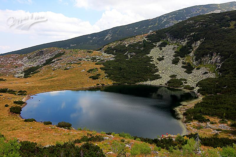 Поглед назад към Йончевото езеро