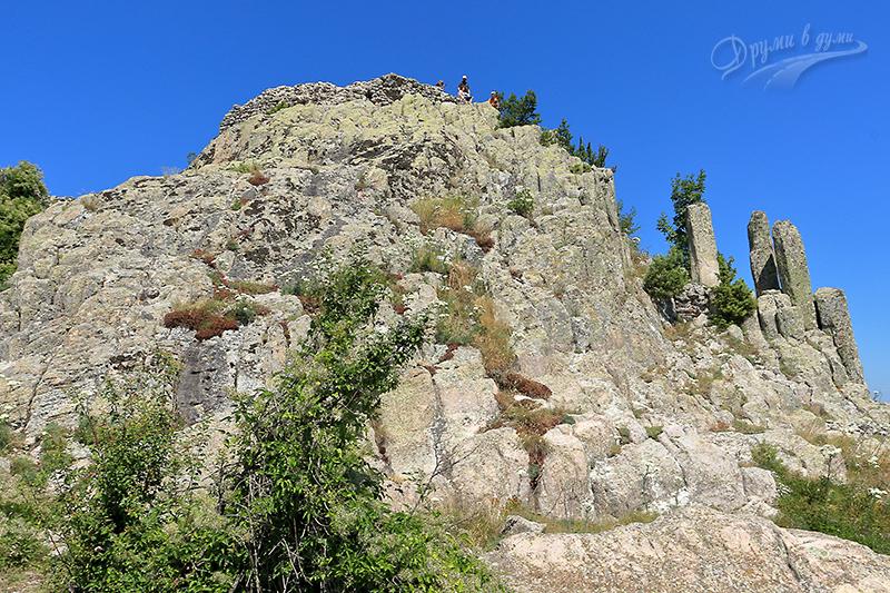 Най-високата част от крепост Устра