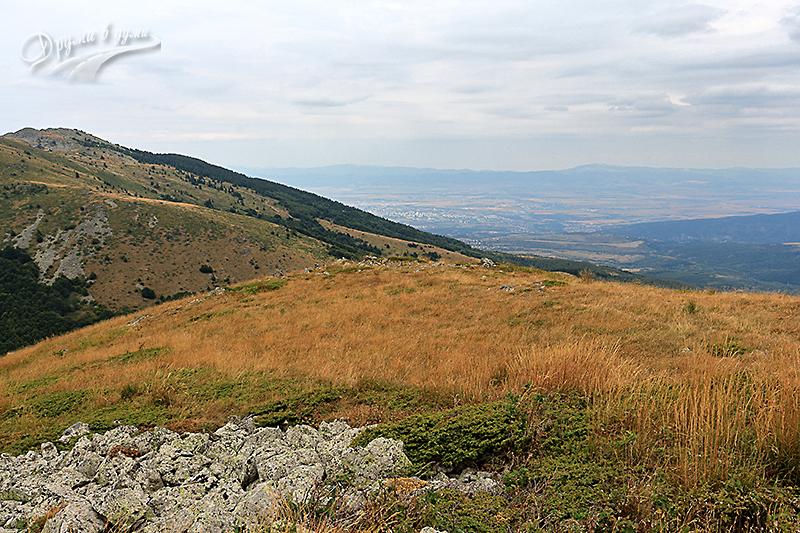 Гледка към връх Голям купен и София
