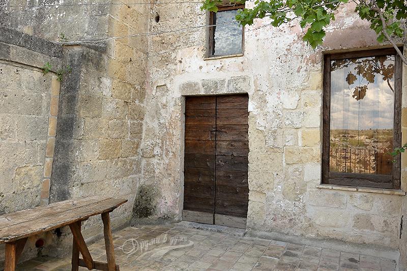 Двор на къща в Матера