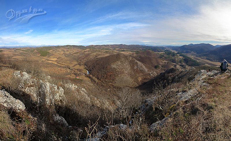 Връх Драговски камък: панорама на изток