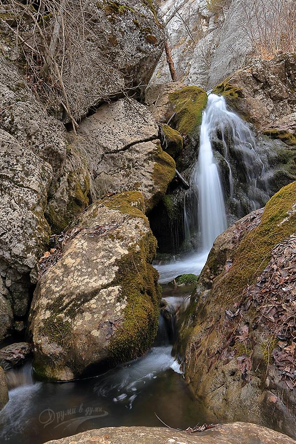 Драговско врело: водопадът в тясната част