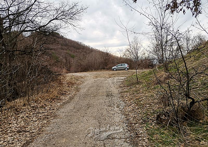 Начало на маршрута към връх Райловско градище
