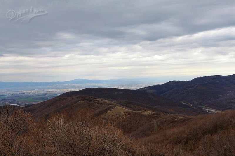 Гледка на североизток към София