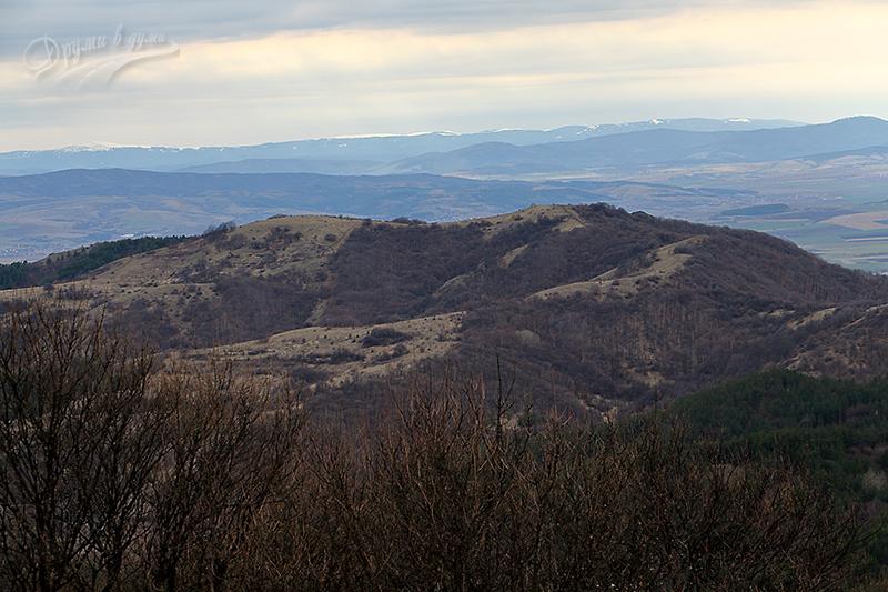 Поглед на запад - връх Криви камик
