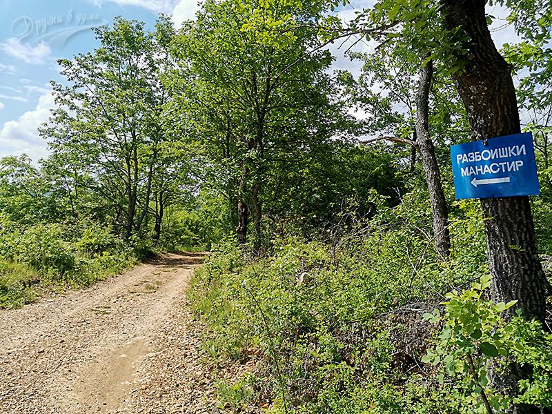 В покрайнините на село Разбоище - към манастира