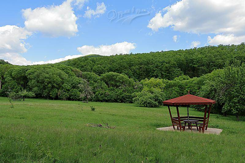 Край алеята са направени множество места за отмора и пикник