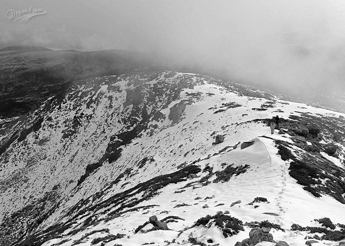 Малко преди връх Йосифица - поглед назад