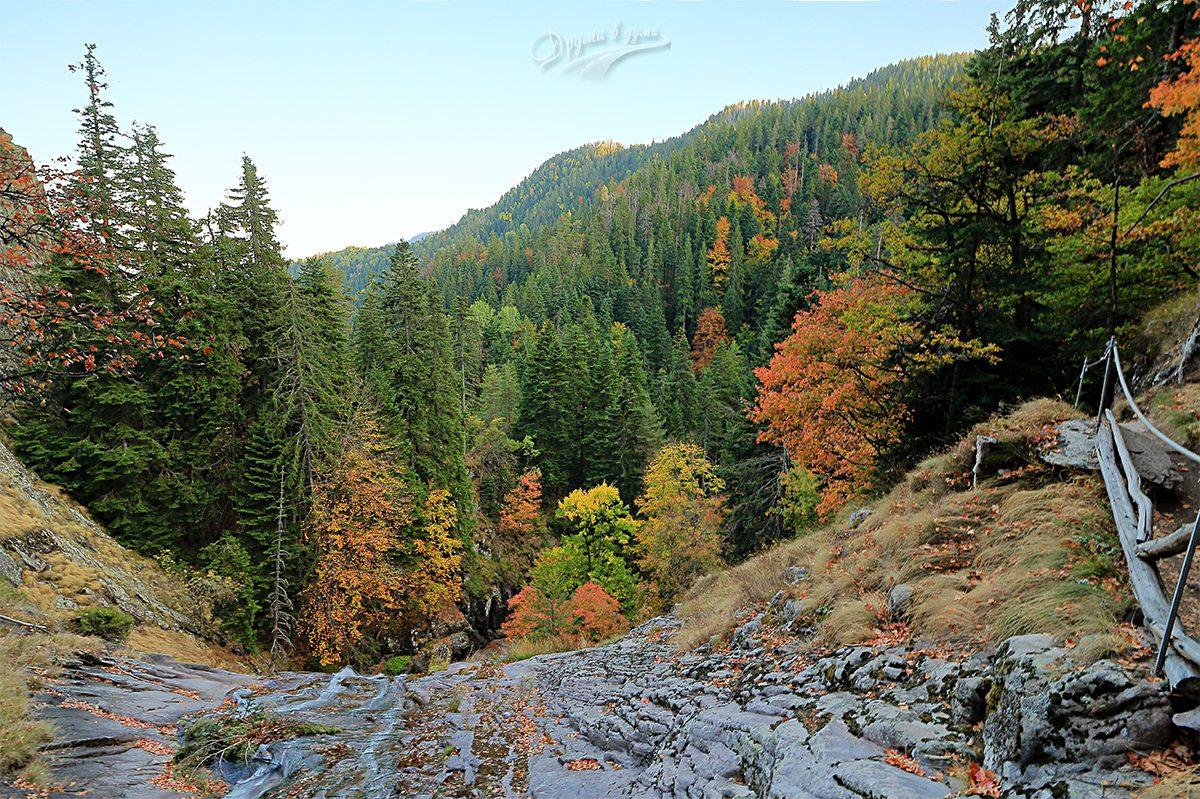 Водопад Орфей - горната част