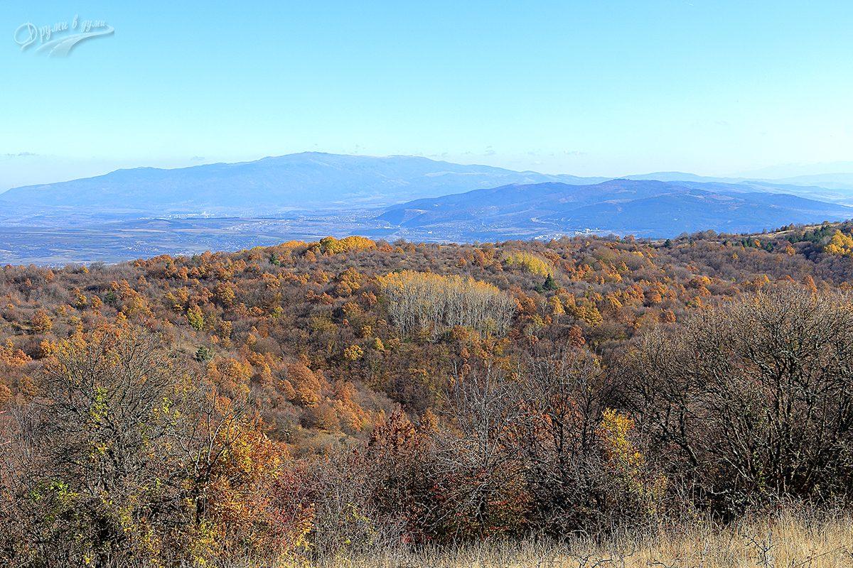 Панорама от връх Тумба  към Перник и Витоша