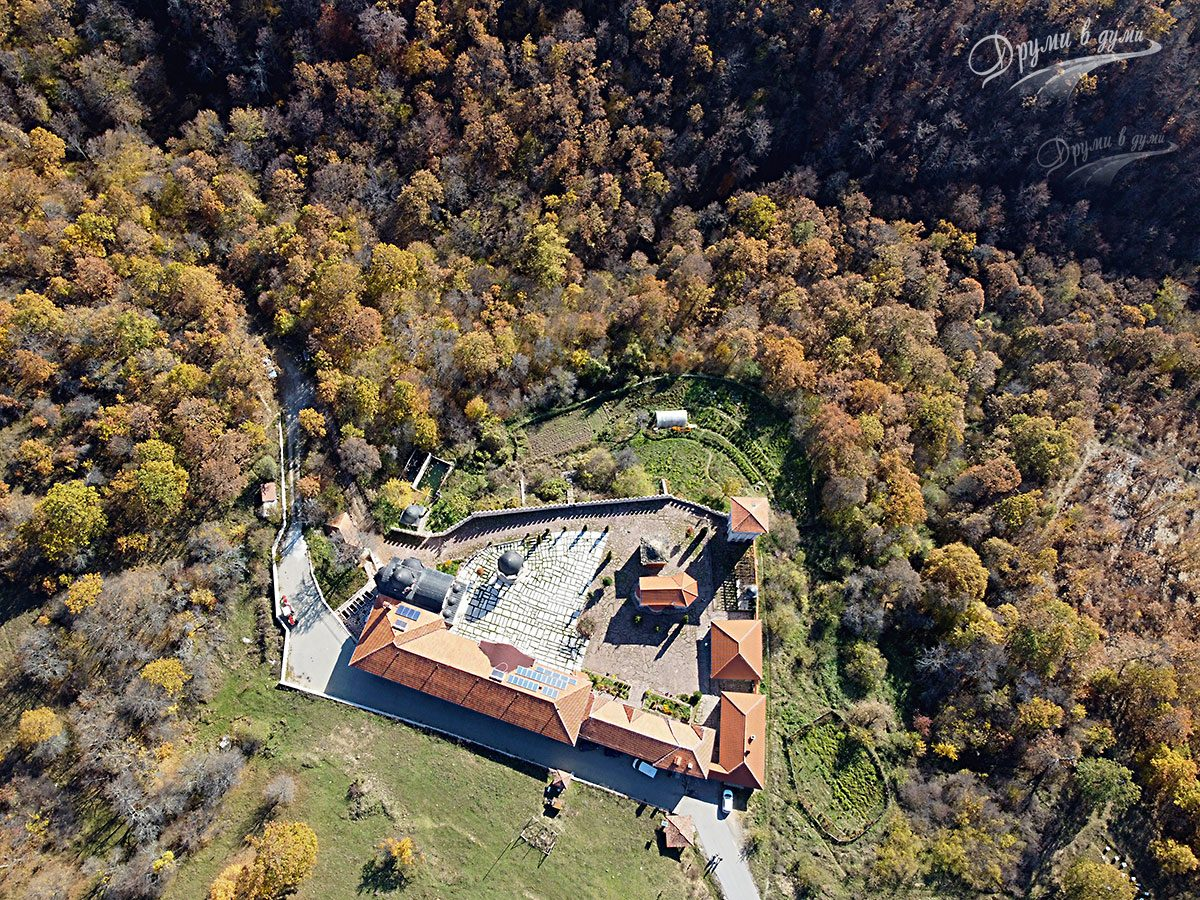 Гигински манастир от високо