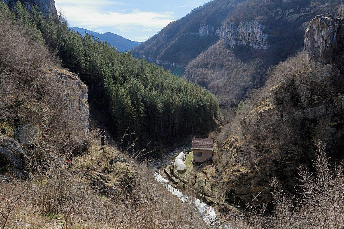 Гледка към река Петраница от пещера Свинската дупка