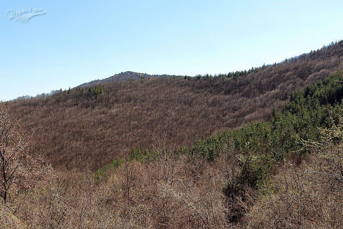 В горната махала се открива хубава гледка към целта - връх Шильоко