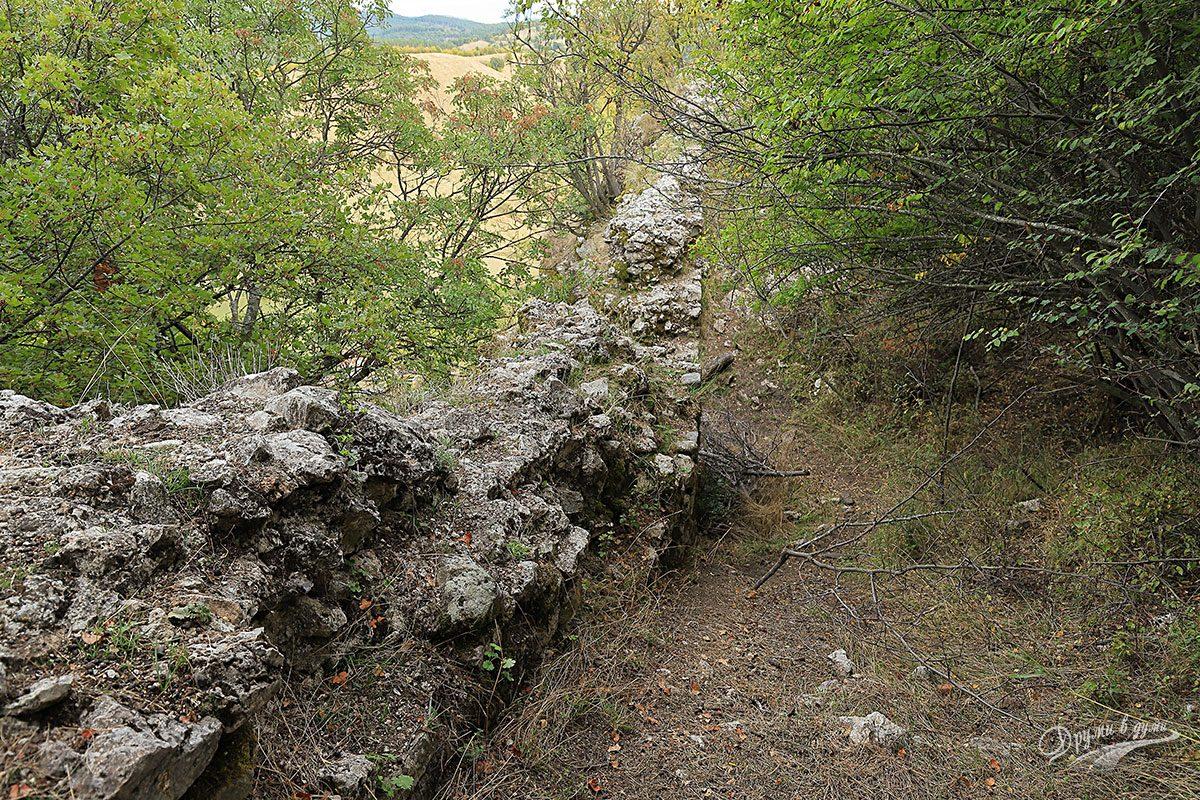 Крепост Патмос - източна стена