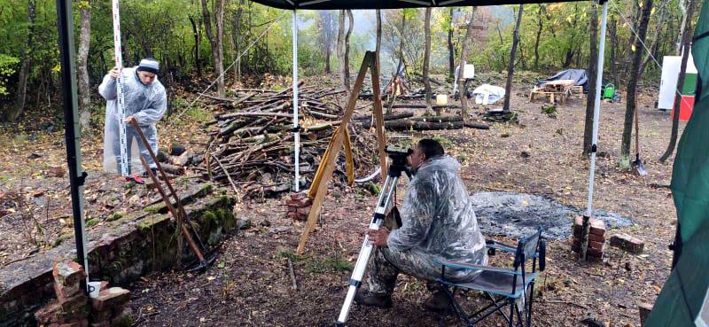 Археологически проучвания на крепост Урвич, октомври 2021.